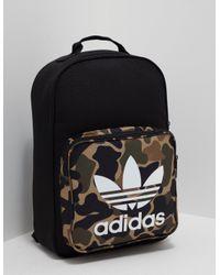 fc965930c1 Lyst - adidas Originals Womens Trefoil Backpack Camo black in Black ...