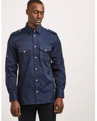 Vivienne Westwood - Blue Military Shirt for Men - Lyst