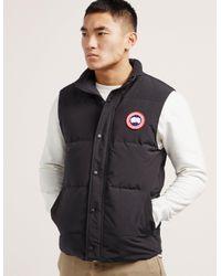 28709200a15029 Canada Goose Garson Vest in Black for Men - Lyst