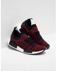 Lyst Adidas Originals Mens Nmd R1 Stlt Black Red In Red For Men