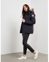 Canada Goose | Blue Chelsea Parka Jacket | Lyst