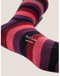 Paul Smith - Purple Valentine Stripe Socks - Lyst