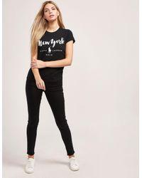 Polo Ralph Lauren - Womens New York Short Sleeve T-shirt Black - Lyst