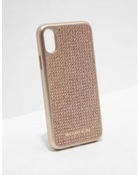 6edce0c5a89b64 Michael Kors. Womens Iphone X Phone Cover - Online Exclusive Rose Gold