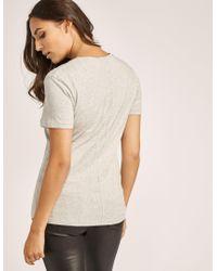 Calvin Klein - Gray Short Sleeve Shrunken T-shirt - Lyst