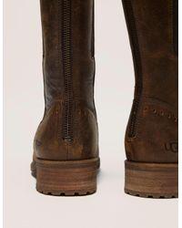 Ugg - Brown Vinson Zip Leather - Lyst