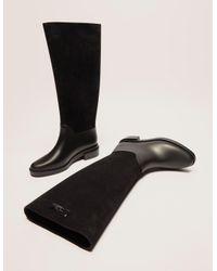 Melissa - Black Mel Long Flock Boot - Lyst