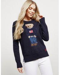 463ffa13dc0e9 Lyst - Polo Ralph Lauren Womens Teddy Bear Knitted Jumper - Online ...