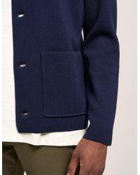 Rag & Bone - Blue Light Knit Button Down Jacket for Men - Lyst