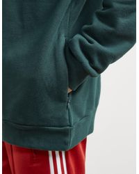 Adidas Originals - Mens Trefoil State Overhead Hoodie Green Night/white for Men - Lyst