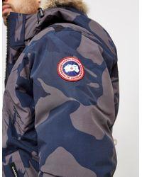Canada Goose - Blue Mens Borden Padded Bomber Jacket Camo for Men - Lyst
