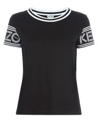 KENZO - Black Round Neck T-shirt - Lyst