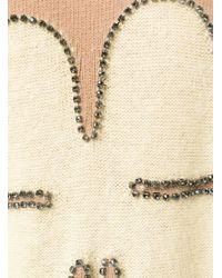 N°21 - Natural Cardigan Con Quadrifoglio - Lyst