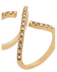 FEDERICA TOSI - Metallic Cross Ring - Lyst