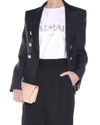 Balmain - Black Double-breasted Jacket - Lyst