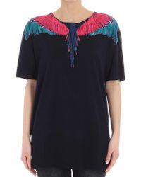 Marcelo Burlon - Black Color Wing T-shirt - Lyst