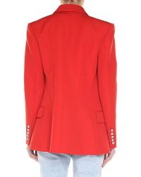 Balmain - Red Double-breasted Jacket - Lyst