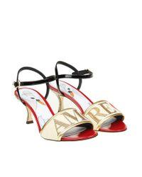 Dolce & Gabbana - Multicolor Golden Love Sandals - Lyst