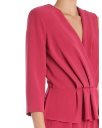 Elisabetta Franchi - Red Raspberry Draped One-piece Jumpsuit - Lyst