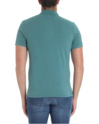 C P Company - Blue Teal Colored Polo for Men - Lyst