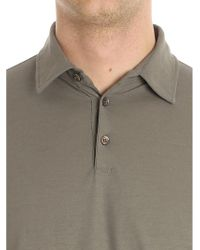Zanone - Multicolor Mud-colored Long-sleeved Polo for Men - Lyst