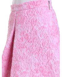MSGM Pink Flared Skirt