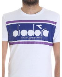 Diadora - White Spectra Crewneck T-shirt for Men - Lyst