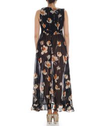 L'Autre Chose - Black Floral Print Dress - Lyst
