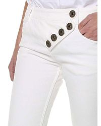 Chloé - White Denim Flared Jeans - Lyst