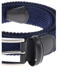 Andersons - Blue Braided Fabric Belt for Men - Lyst
