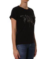 Pinko - Black Forare T-shirt - Lyst