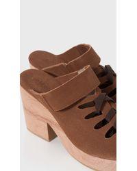 A Detacher Brown Etta Wedge Sandals