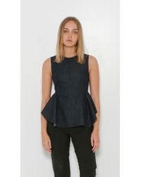 Theory - Blue Kalsing Peplim Top - Lyst