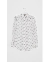 Theory - White Biritta Haze Dot Print Shirt - Lyst