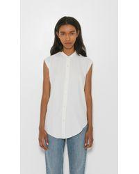 Helmut Lang - White Back Knot Sleeveless Shirt - Lyst