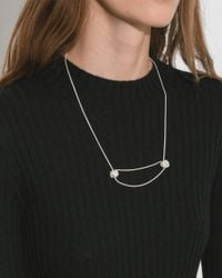 Saskia Diez - White Big Knot Necklace No. 1 - Lyst