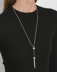 Saskia Diez - Metallic Big Knot Necklace No. 3 - Lyst