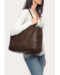 Frye - Brown Campus Shopper - Lyst