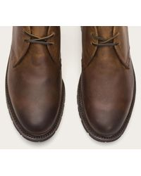 Frye | Brown James Lug Chukka Shearling for Men | Lyst