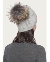 Frye - Gray Women's Logo Pom Hat - Lyst