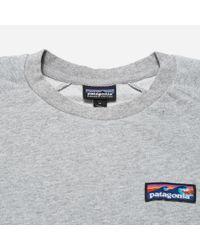 Patagonia - Gray Board Short Label Lw Crew Sweatshirt for Men - Lyst