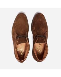 Sanders - Brown Hi Top Chukka Boot for Men - Lyst