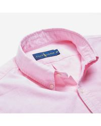 Polo Ralph Lauren - Pink S/s Bd Oxford Shirt for Men - Lyst