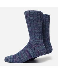 Anonymous Ism - Blue 5 Colour Mix Crew Socks for Men - Lyst
