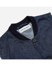 Universal Works - Blue Fall Denim Watchman Waistcoat for Men - Lyst