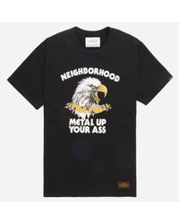 Neighborhood - Black Metal T-shirt for Men - Lyst