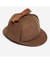 Olney - Brown Tweed Sherlock for Men - Lyst