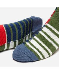 Anonymous Ism - Multicolor Diffa Border Crew Socks for Men - Lyst