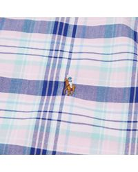 Polo Ralph Lauren - Pink Slim Fit Oxford Check Shirt for Men - Lyst