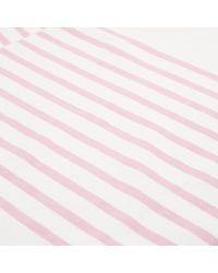Albam - Pink Stripe Breton T-shirt for Men - Lyst